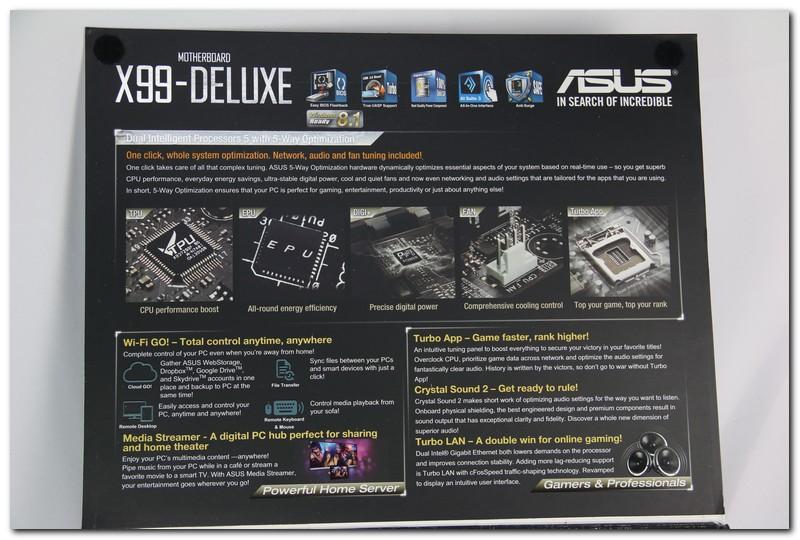 ASUS X99 Deluxe 搶先看,新技術一個都不缺席