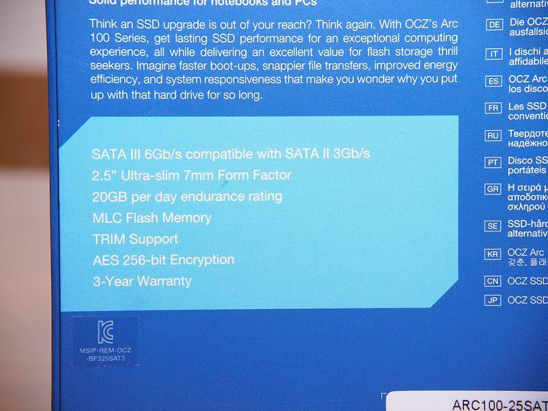 [XF] 超值大容量SSD OCZ ARC 100 480GB