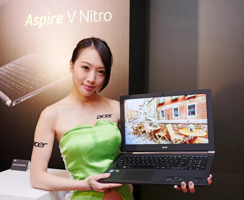 時尚高效能、搭載 4K Ultra HD 螢幕 Acer Aspire V Nitro 系列筆記型電腦上市