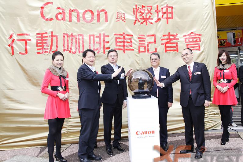 到Canon與燦坤行動咖啡車體驗列印讓你喝咖啡拿折價券