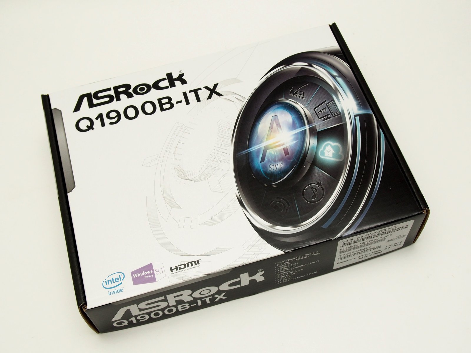 [XF] 超低功耗 Bay Trail 四核心平台 ASRock 華擎 Q1900B-ITX