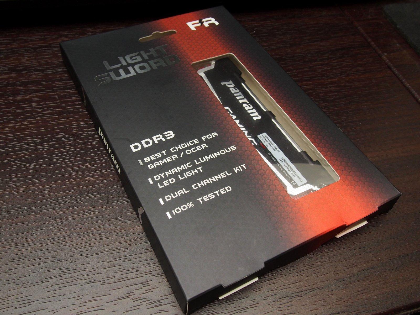 [XF] 極限酷炫光劍記憶體模組 Panram Light Sword DDR3-3000 8G