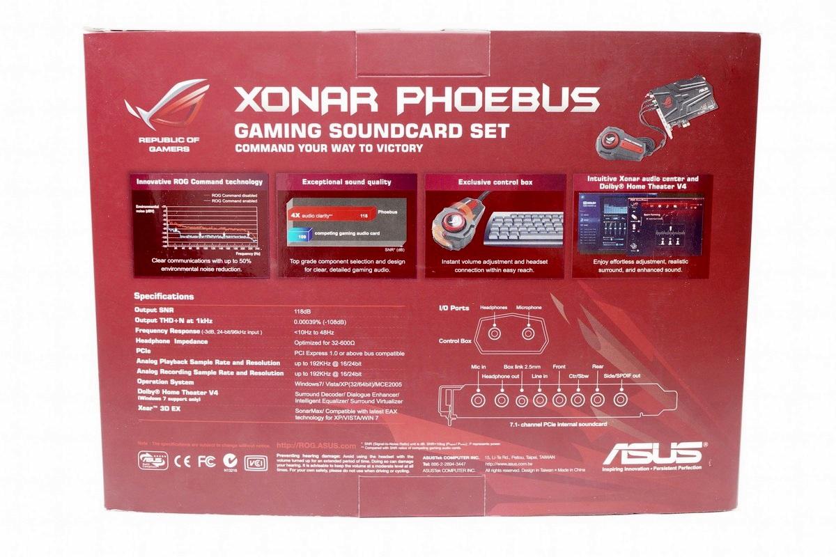 [XF] 電競音效卡 ASUS ROG Xonar Phoebus 開箱