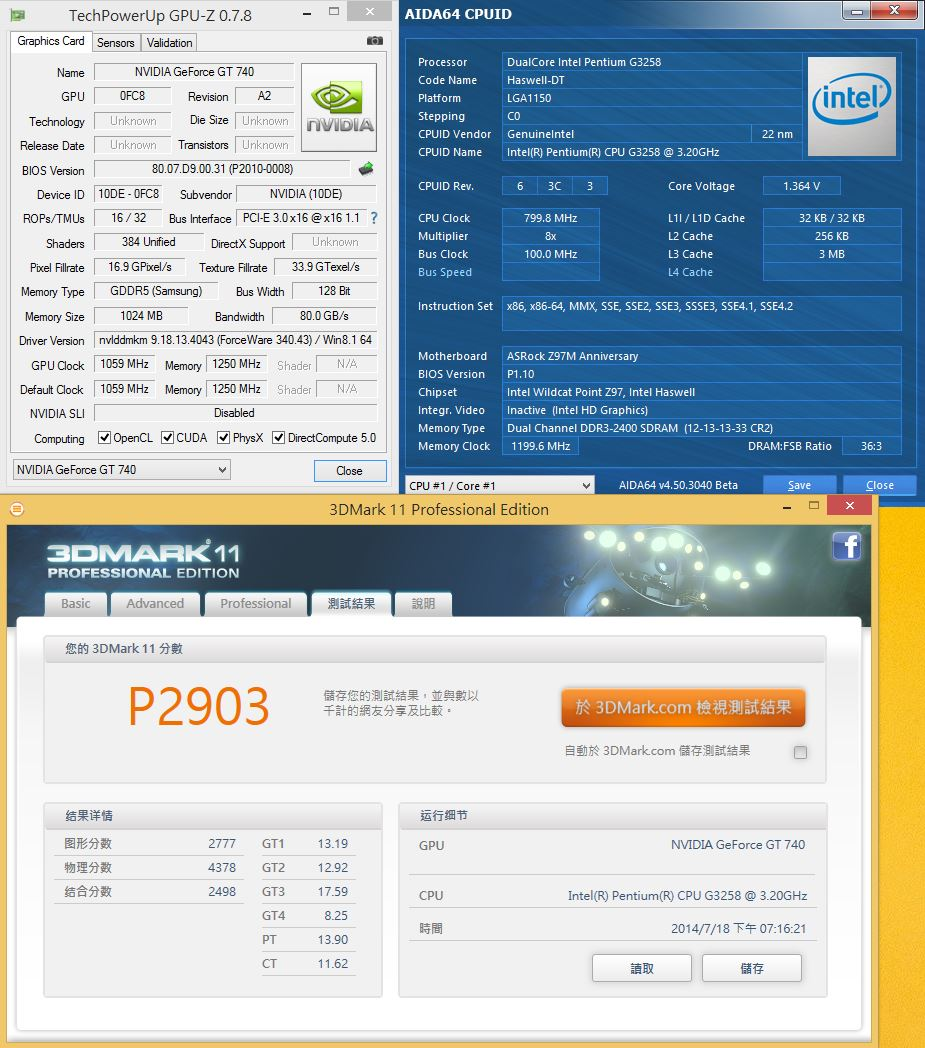 [XF] 平價能效組合 體現G3258超頻快感 ASRock Z97M Anniversary+Kingston Fury DDR3+Antec H2O 650評測