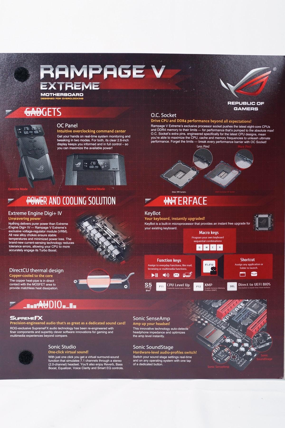 [XF] 睥睨群雄王者風采 再創平台能效巔峰 ASUS ROG Rampage V Extreme 評測