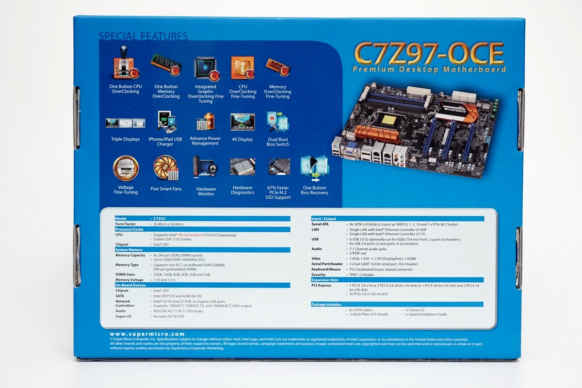 [XF] 伺服器用料設計 超頻電競輕鬆玩 SUPERMICRO C7Z97-OCE 開箱