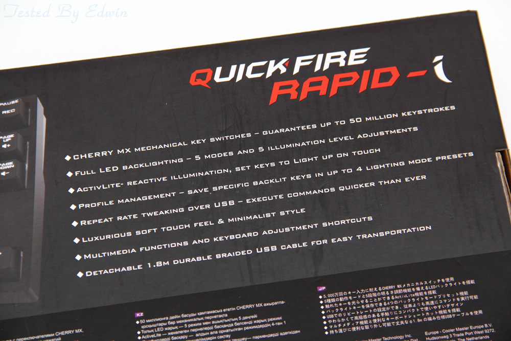 [XF]小鍵盤也要NKRO!! CoolerMaster Quick Fire rapid-i 發光機械鍵盤