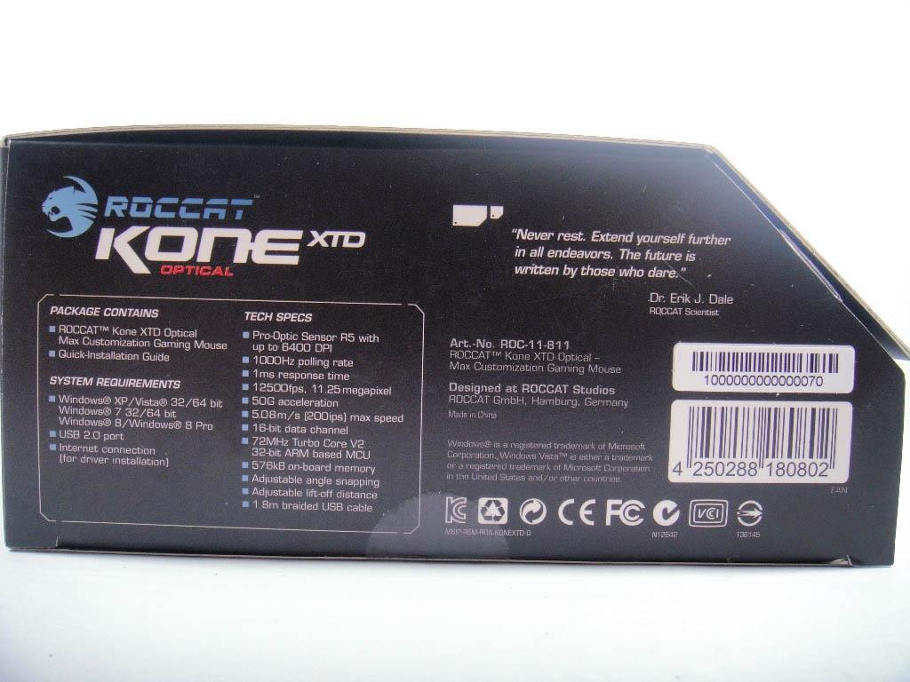 [XF] 德國極致工藝-冰豹ROCCAT KONE XTD Optical評測