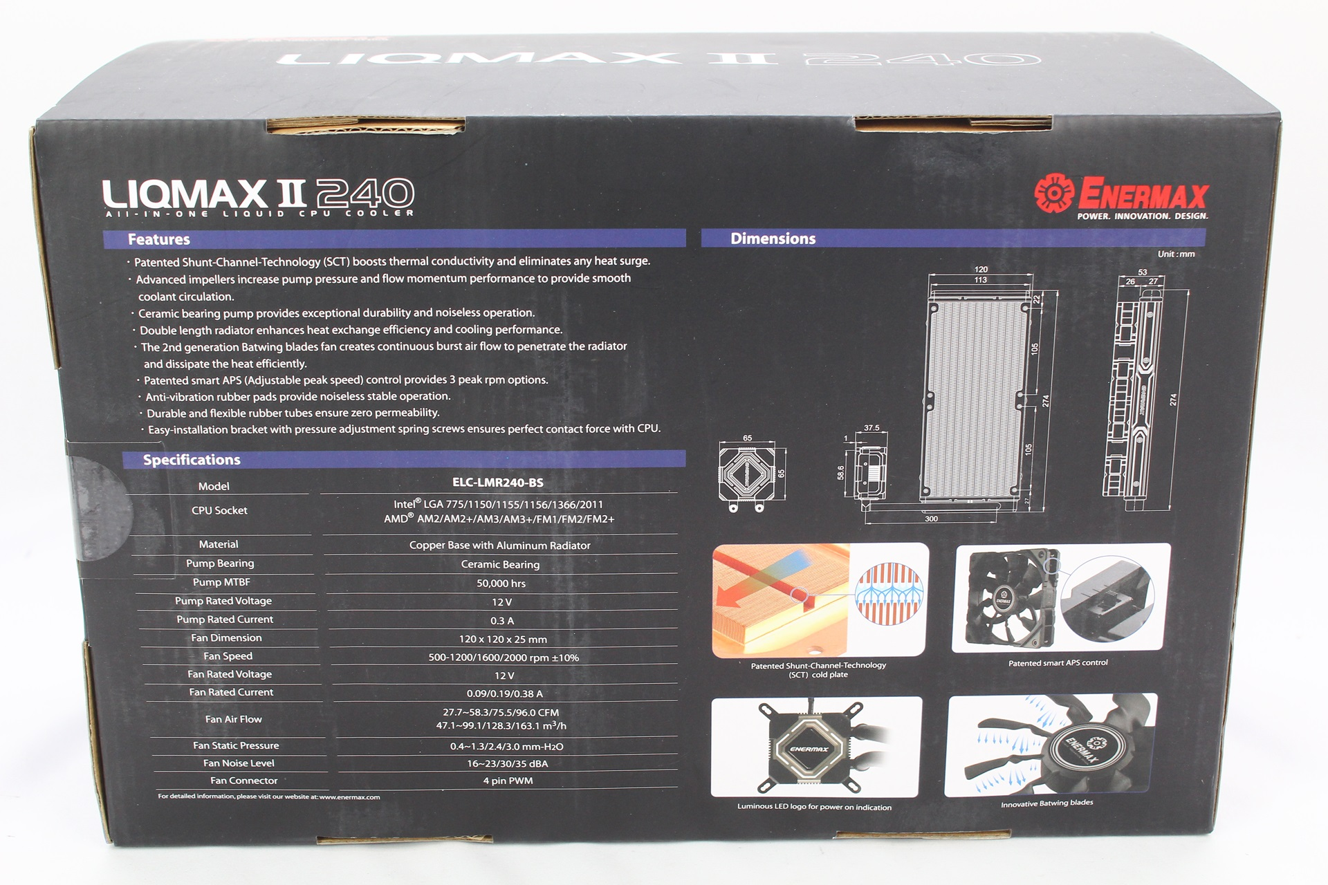 [XF]風扇轉速範圍開關讓你切換,ENERMAX LIQMAX II 240一體式水冷散熱器開箱測試
